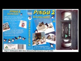 Pingu 2 - Building Igloos (BBCV 4812) UK VHS Opening and Closing (1992)