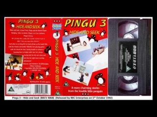 Pingu 3 - Hide and Seek (BBCV 4868) UK VHS Opening and Closing (1992)