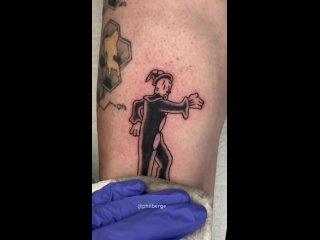 """Анимация из 76 татуировок (сцена из Betty Boop """"Snow White"""")"""