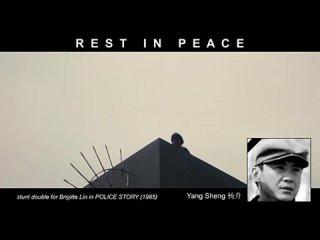 Каскадёр Ян Шэн дублирует Бриджит Лин в Полицейской истории 1985