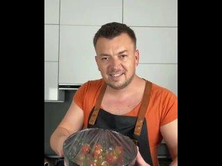 Быстрые маринованные помидоры Черри
