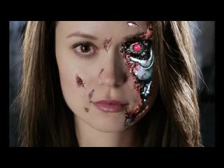 Summer Glau getting hours of terminator makeup TSCC.
