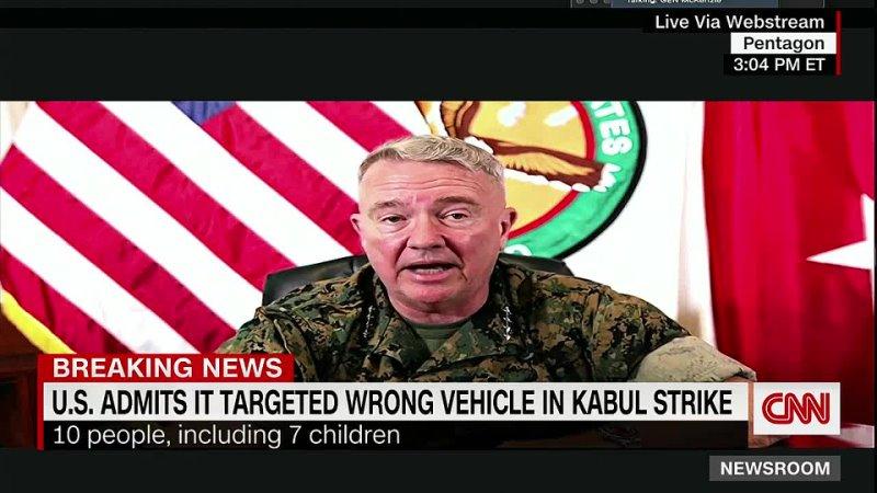 A mistake US admits it killed 10 civilians in Kabul drone strike 720P HD mp4