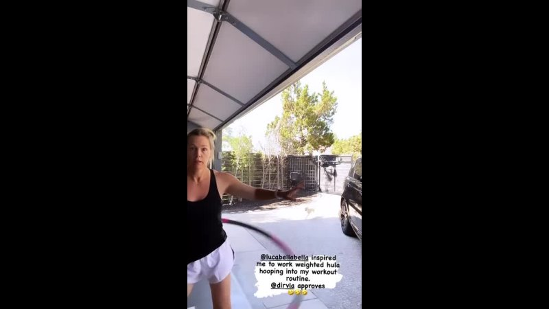 Дженни Гарт тренируется