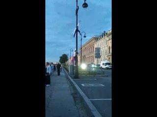 Петербуржец утащил российский флаг с парада ВМФ