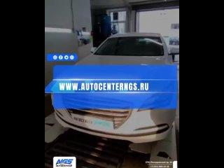 Hyundai Genesis 😎Очень распространенная болезнь новых  автомобилей - от попадания камней в торец крыши (на стыке с лобовым стек