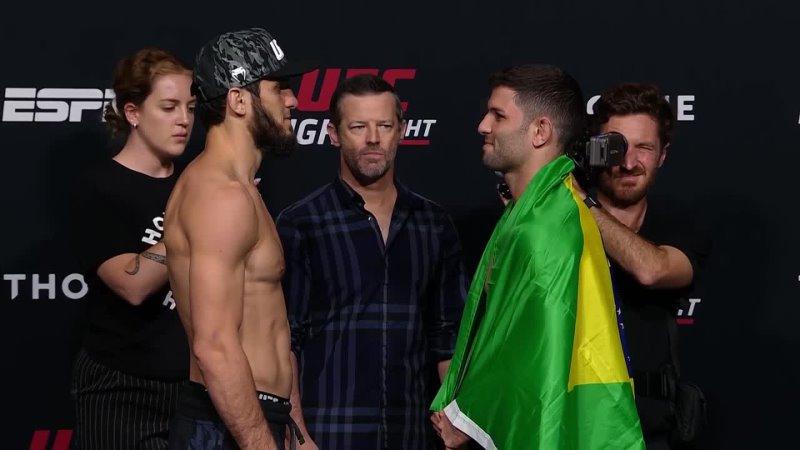 Битва взглядов перед UFC Вегас 31 Махачев vs Мойзез
