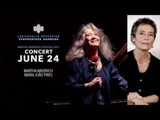 Martha Argerich Festival 2021: Maria João Pires - Schubert (Hamburg, )