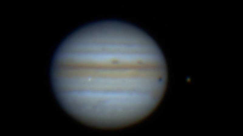 Падение астероида в атмосферу Юпитера