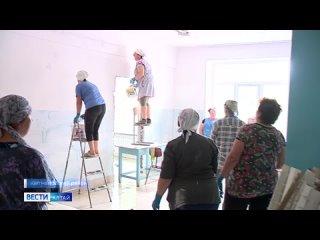 В селе Октябрьское Кытмановского района готовят к сдаче отремонтированную школу
