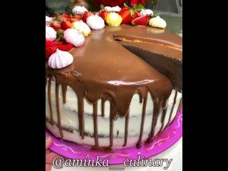 """Шоколадный торт. Аминка. / Наша группа во ВКонтакте: """"ТОРТ-РЕЦЕПТ-VК""""."""