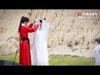 [Fancam] ХуаЛяни на съёмках Небожителей