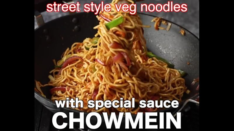 Vegetarian chow mein recipe - veg chowmein