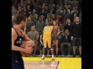 Сложнейший бросок в исполнении Коби Брайанта и взаимодействие со зрителями в NBA 2K21