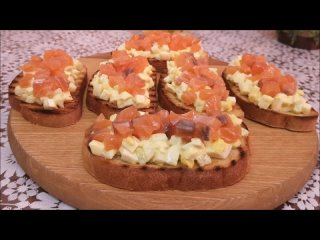 Тосты с яичным салатом и красной рыбой. ИДЕАЛЬНОЕ СОЧЕТАНИЕ!!!