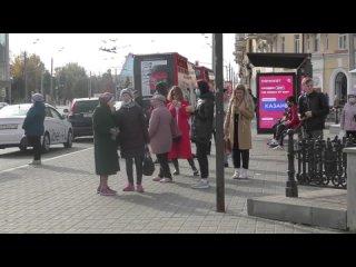 Фрагмент 2. Площадь Тукая. В Казани продолжаются проверки по соблюдению масочного режима в общественном транспорте.