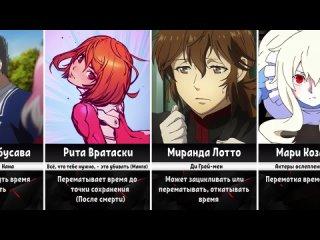 [SiriusOne] Персонажи которые Манипулируют Временем в Аниме и Манге (Ч.1)