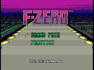 F-Zero (SNES, 1991) – заставка и демонстрация
