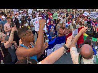 ️ SOS Cuba Libre · Manifestación por la Libertad del Pueblo Cubano en Madrid (14 julio 2021)
