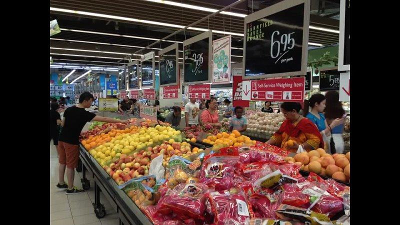 Серия 2 Цены на основные продукты в супермаркете Сингапура