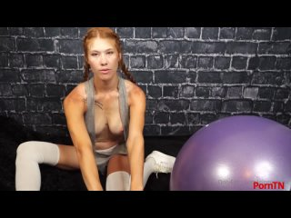 Ginger ASMR  - Workout With My New Exercise Ball
