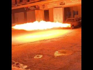 Механик из Краснодара превратил «шестерку» в машину-огнемет