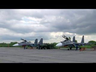 Полеты истребителей Су-30СМ морской авиации Балтийского флота