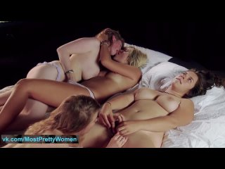Straw_berry & friends: Two true lesbian couples, real orgasms