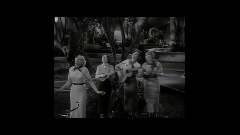 A Young Betty Grable and Friends Warble A Tune