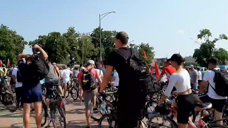 Старт велопробега Во имя Победы
