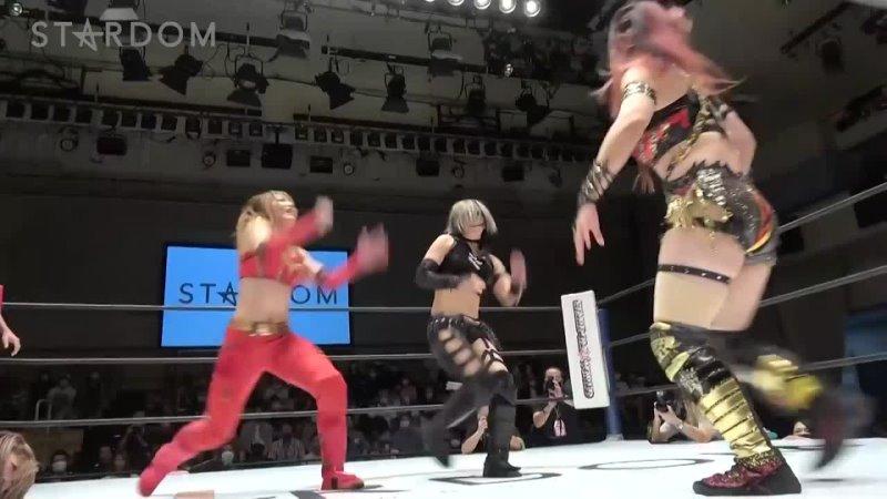 Stardom 07 25 2021 Blue Stars Special Tag Match Utami Hayashishita Tam Nakano Maika vs Syuri Konami Unagi Sayaka