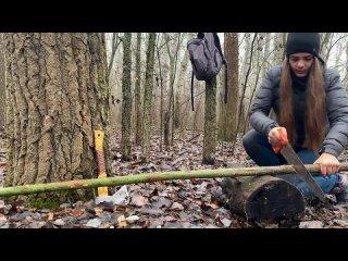 Бушкрафт укрытие: Плетёный гамак   Навес из коры   Легкий лагерь в лесу за день