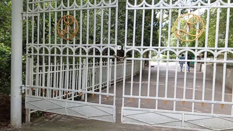 Сентябрь 2021 Начало прогулки вход в Ливадийский дворец