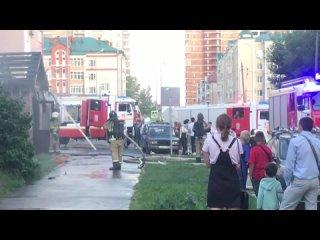 Шаурмичная и кафе сгорели на улице Меридианной в Казани