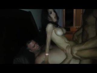 Двойное проникновение в грудастую соску - Teen Mega World amateur xxx homemade мамки milf домашнее porn порно любительское оргия