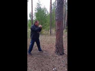Тренировка в лесу по деревьям