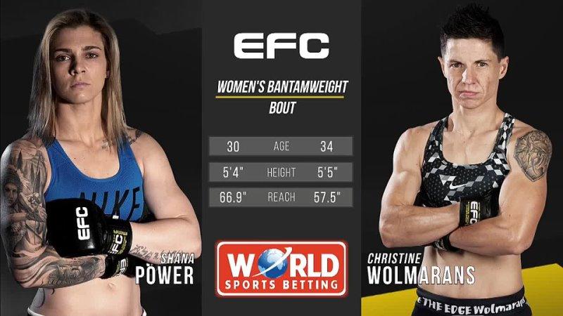EFC Fight Night 1 Shana Power vs Christine Wolmarans