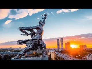 Москва с высоты птичьего полета .mp4