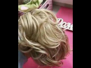Хвостик на крабе из канекалона блонд