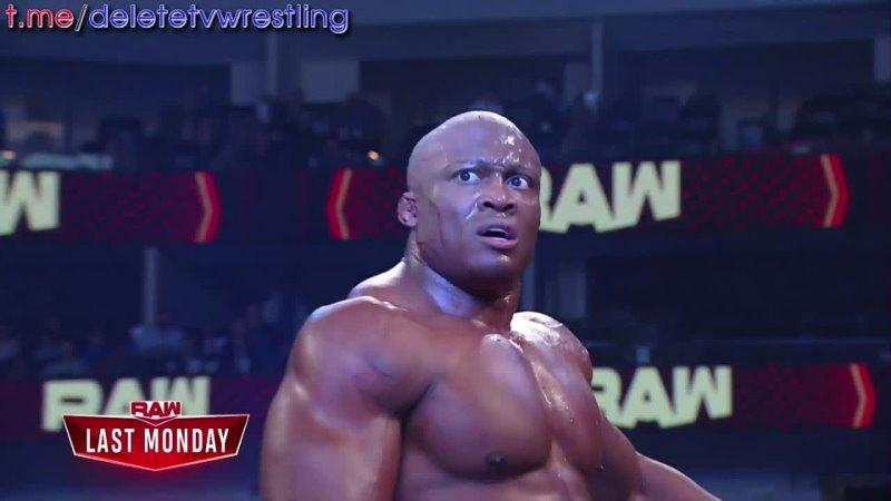 Бобби Лэшли даёт ответ на вызов Голдберга на Raw 26 07 2021 в русской озвучке