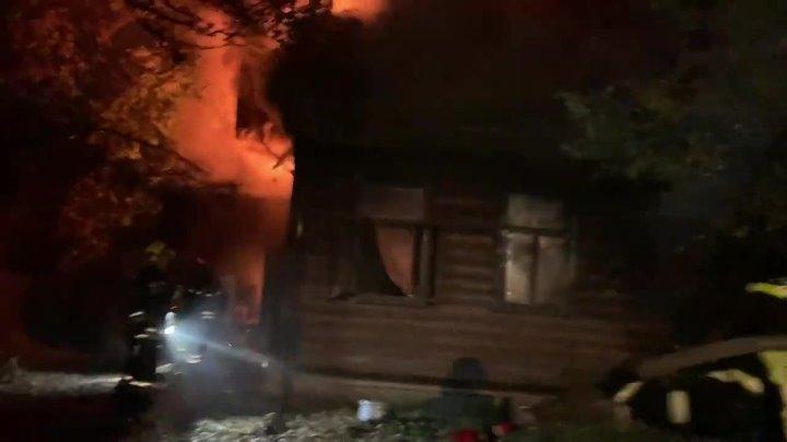 Крупный пожар произошел в Южном Бутово!