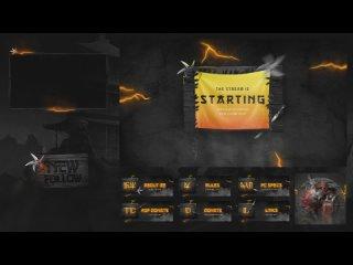 Мега Комбо для Twitch + Анимированная Сцены + Анимированные оповещения (Алерт)