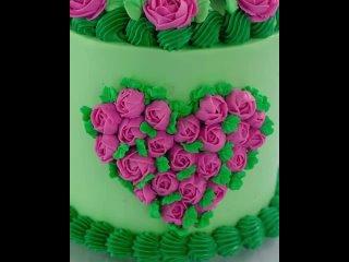 """Кремовый торт с цветами. Паблик """"Сам себе кондитер"""""""