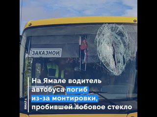 На Ямале водитель автобуса погиб из-за монтировки, пробившей лобовое стекло