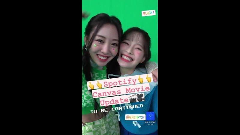 211012 loonatheworld jp official Spotify HULA HOOP Yves Chuu Instagram Story update