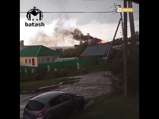 В Башкирии молния ударила в строящийся дом