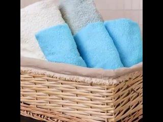 Как красиво и комактно сложить полотенца