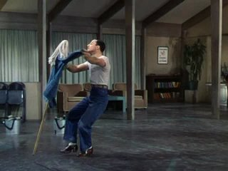 Gene Kelly Tap Dances With A Mop