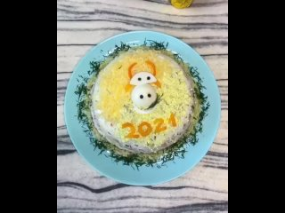 Вкусный новогодний салатик 😋