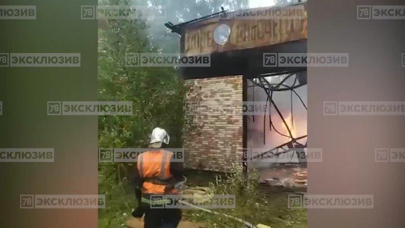 Пожар в Колпинском районе